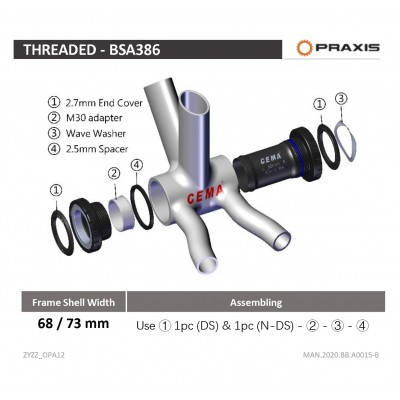 BSA threaded